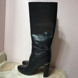 Black Leather Michael Kors Boots